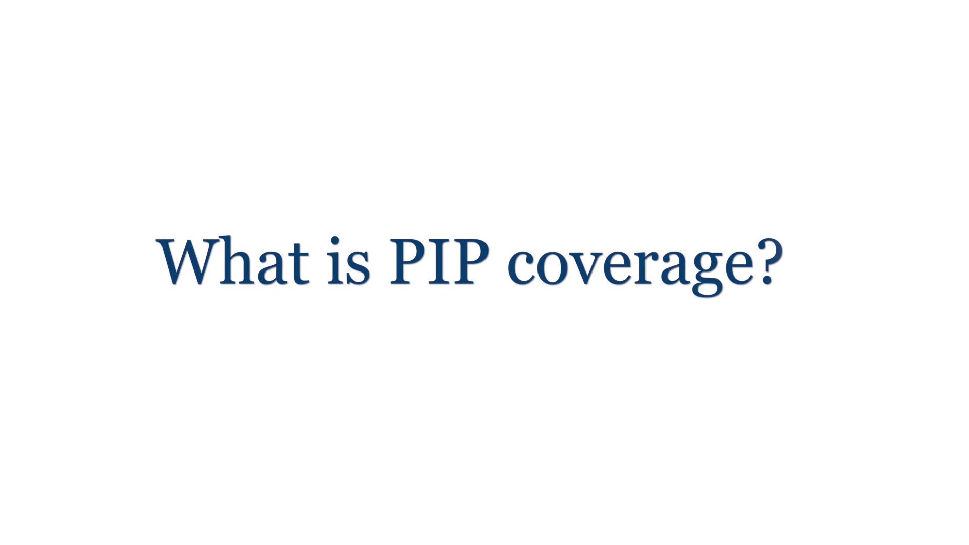 ¿Qué es la cobertura PIP? (Protección Personal contra Lesiones)